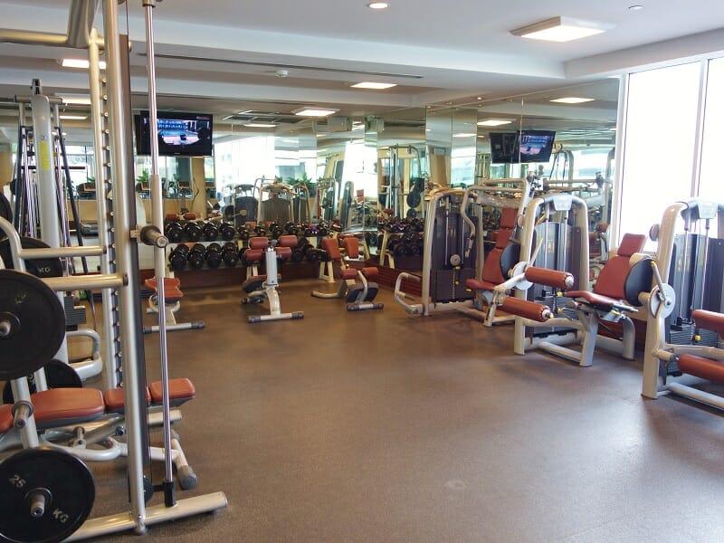 ダブルツリーバイヒルトン(DoubleTree by Hilton Bangkok Ploenchit)のトレーニングルーム