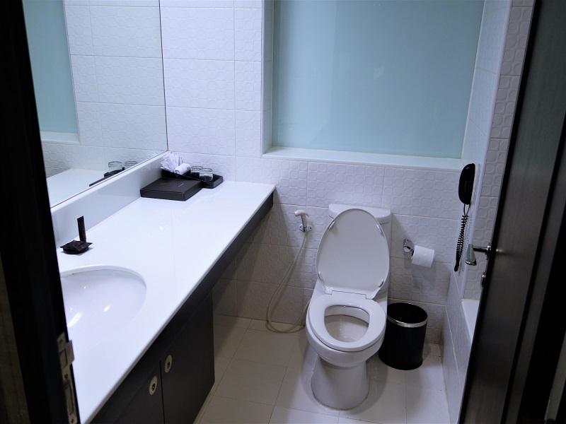 フラマエクスクルーシブ アソーク ホテル バンコク(FuramaXclusive Asoke Hotel Bangkok)洗面所とトイレ