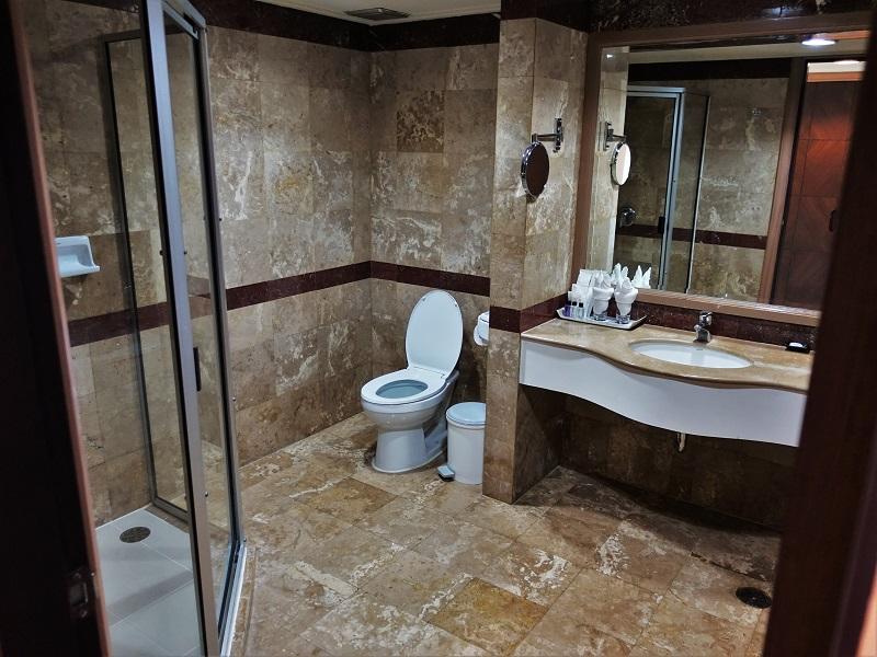 バイヨークスカイ ホテル(Baiyoke Sky Hotel)洗面所とシャワースペース