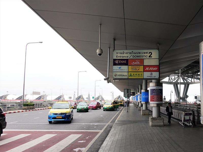 スワンナプーム国際空港タクシー到着レーン