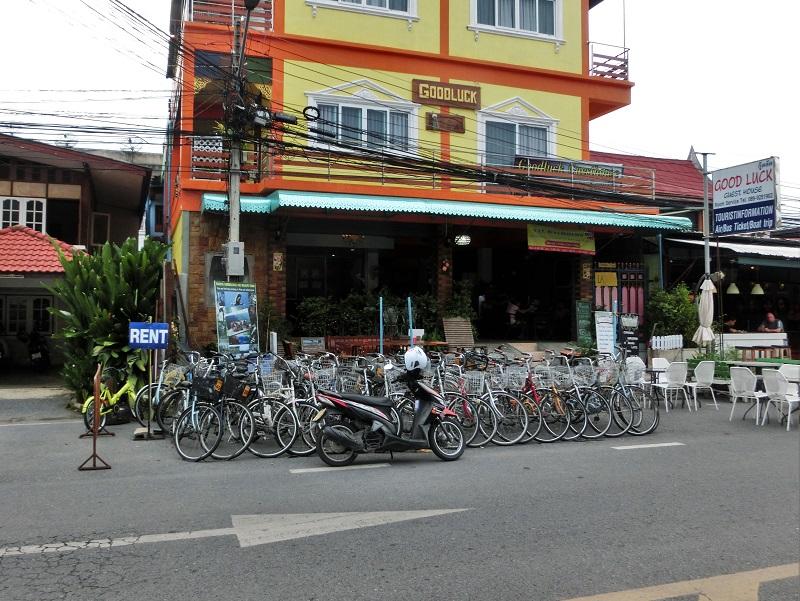 アユタヤのレンタル自転車屋