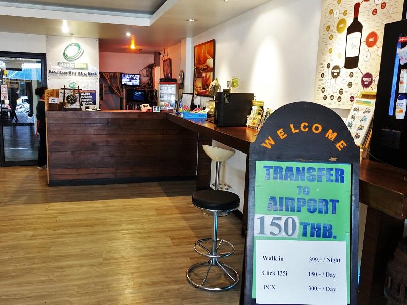 ベーシック ライン ホテル アット ロイクロ(Basic Line Hotel at Loikroh)受付
