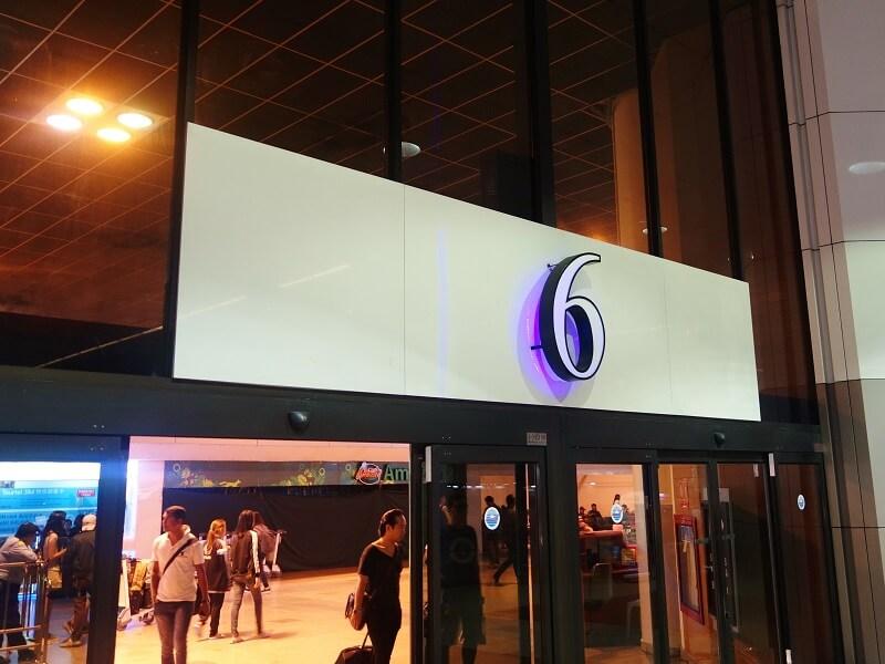 ドンムアン空港国際線ターミナル6番出口