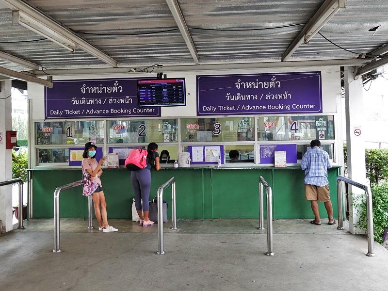 ドンムアン鉄道駅のチケット販売所