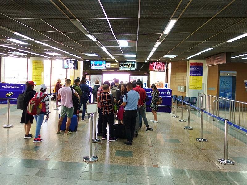 ドンムアン空港国際線ターミナルのタクシー乗り場