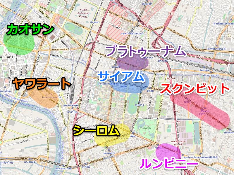 バンコク観光マップ