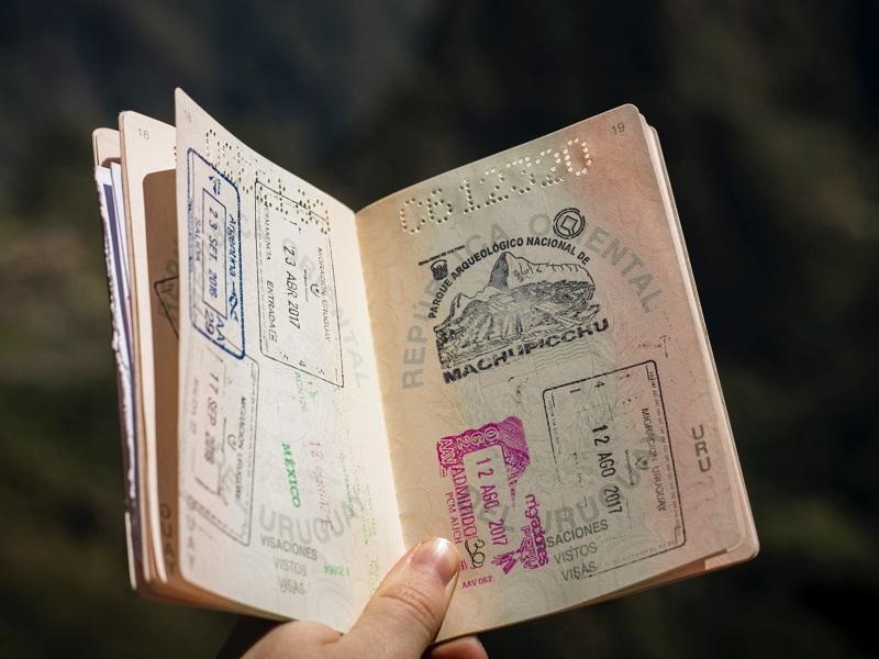 パスポートのビザ