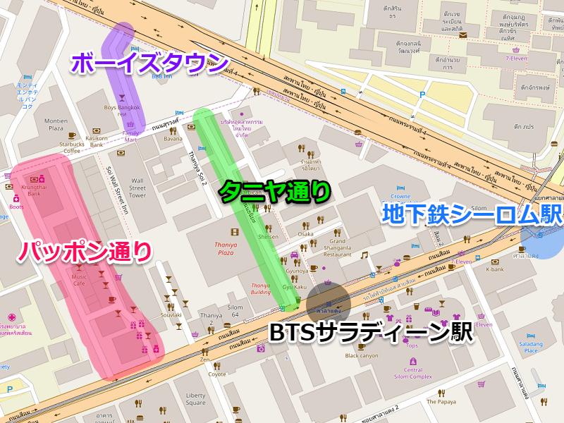 パッポン・タニタのエリア地図