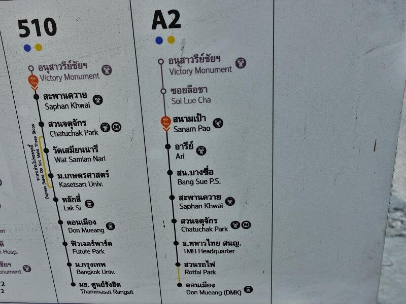 A2エアポートバスのルート