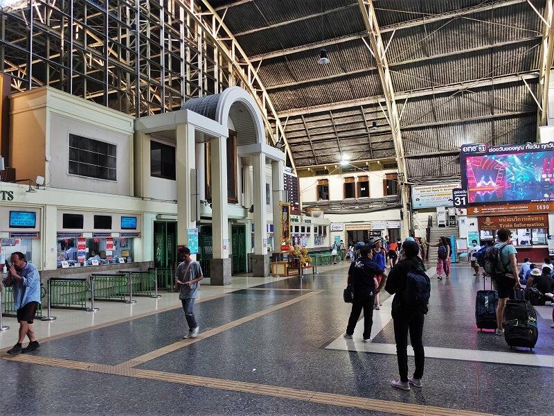 バンコク鉄道駅のチケット売り場