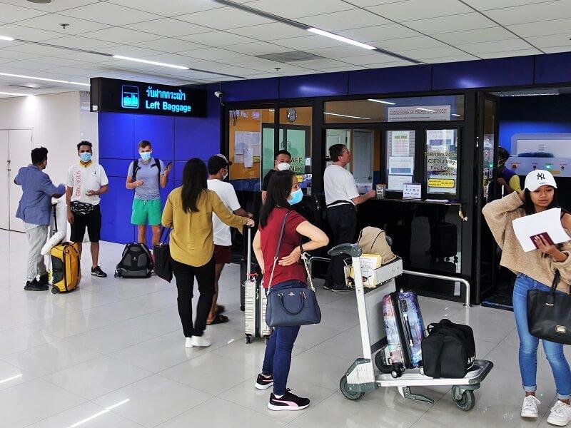ドンムアン空港のLeft Baggage(レフトバゲッジ)