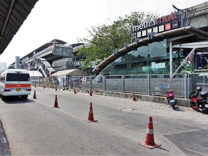 バンコク行きロットゥーのモーチットにおける到着場所