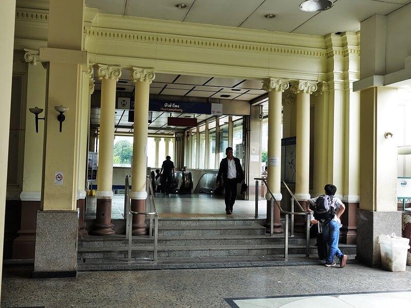 地下鉄ファランポーン駅2番出口(Exit 2)