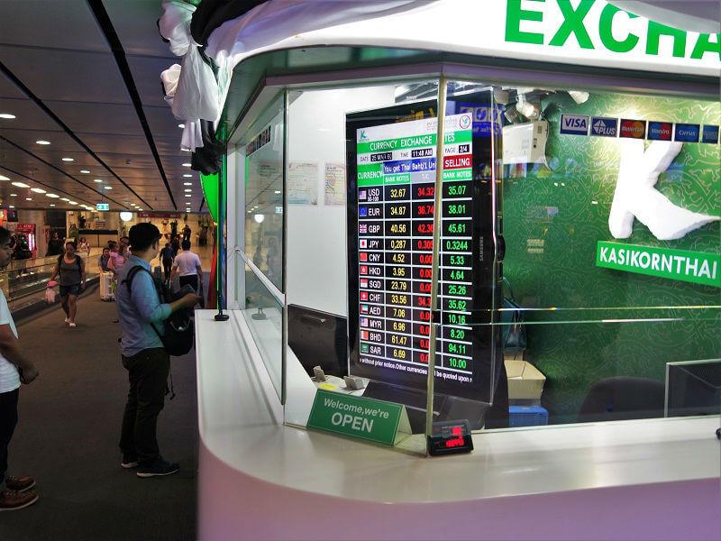 カシコーン銀行(KASIKORN BANK)の為替レート一覧