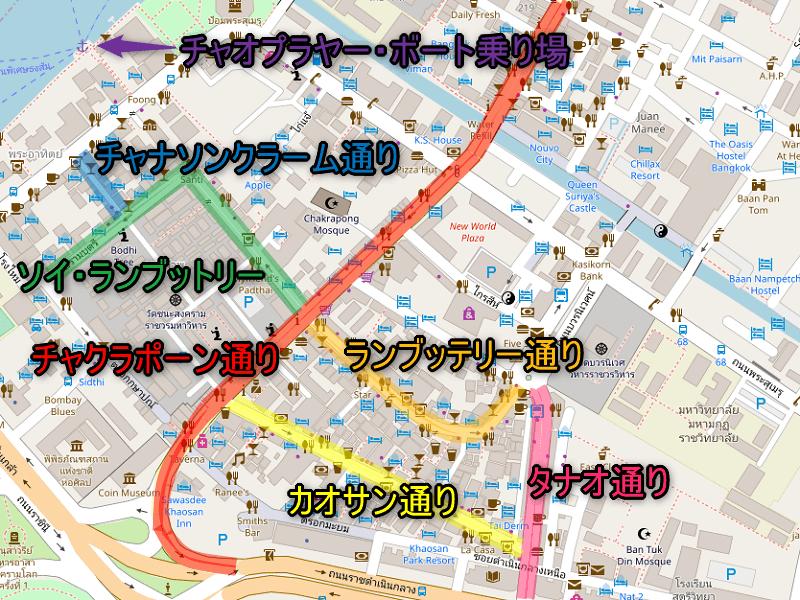 カオサン地図