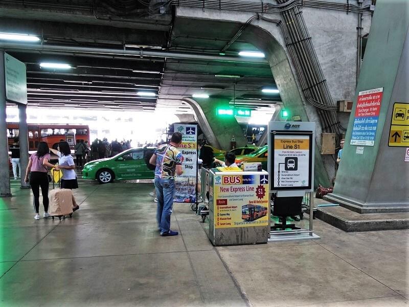 カオサン行きバス「S1バス」のカウンター