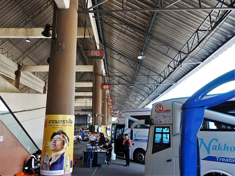 モーチットバスターミナルのプラットフォーム4