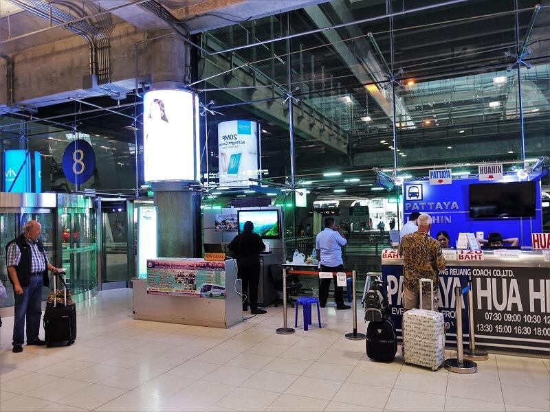 スワンナプーム国際空港8番ゲート付近