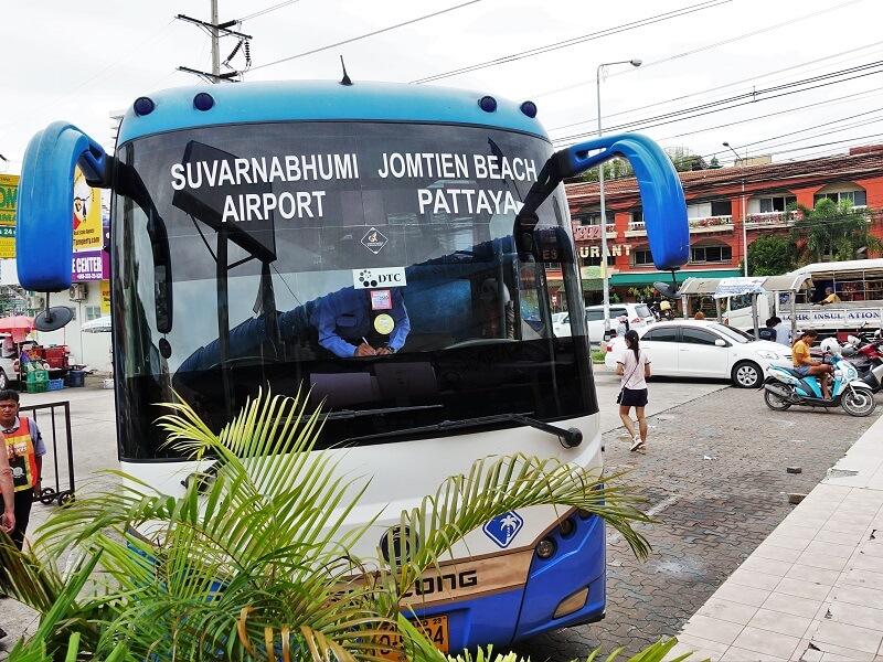 パタヤ発スワンナプーム国際空港行きバス