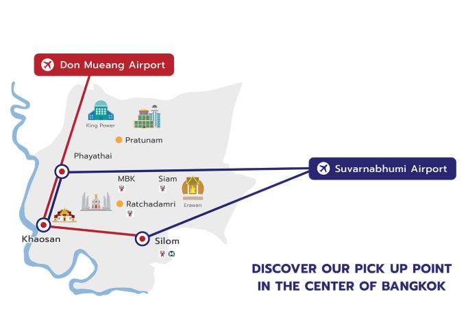 ドンムアン空港からのリモバスのルート